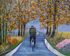 """The Road Less Travelled"" by Nuala Holloway - Oil on Canvas www.nualaholloway.com #Art #IrishArt #NualaHolloway"