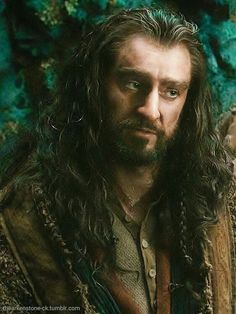 Richard Armitage as Thorin Oakenshield in The Hobbit Trilogies. He sort of has that 'I don't believe you' face.