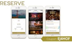 Reserve Promo Code: Use coupon EJ4HOF for $20 off your dining on-demand Coupons, Apps, Coding, Coupon, App, Programming, Appliques