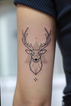 Best Deer Tattoo Designs, Ideas, and Meanings Baby Deer Tattoo, Buck Tattoo, Deer Head Tattoo, Diy Tattoo, Raven Tattoo, Tattoo Ink, Antler Tattoos, Fox Tattoos, Tree Tattoos