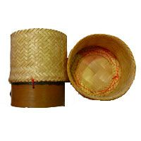 """Sticky Rice Serving Bamboo Container 5"""""""