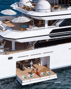 Luxury yachts to inspire you for the next holiday. Cool Boats, Used Boats, Small Boats, Super Yachts, Yachting Club, Bateau Yacht, Yacht Boat, Sailing Boat, Yacht Design