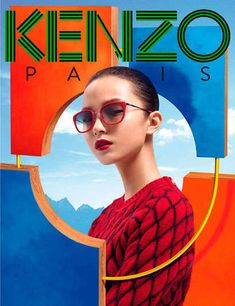 The Kenzo Accessories Fall/Winter 2012 Campaign is Artfully Bold #Fashion #Art trendhunter.com