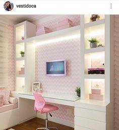 Teen girl bedroom ideas – Home Decor Designs Cute Bedroom Ideas, Girl Bedroom Designs, Room Ideas For Girls, Girls Bedroom Colors, Trendy Bedroom, Dream Rooms, Dream Bedroom, Teen Girl Bedrooms, Childrens Bedrooms Girls