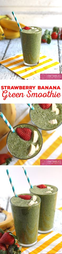 Yummy Strawberry Banana Green Smoothies recipe. This is a good one!