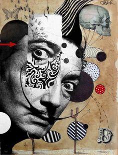 "Saatchi Art Artist Loui Jover; Collage, ""hello dali"" #art"