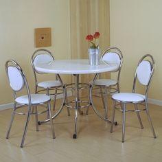 Todas Ofertas Online - Conjunto de mesa e 4 cadeiras Laura Branco - Carraro.Fabricado em ótimos materiais proporciona muito mais conforto para você e sua família. Por R$ 1.050,18 em até 12x de R$ 87,52 s/ juros. Oferta em 21/08/2013