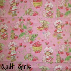 Baby Strawberry Shortcake on Pink Fabric to sew