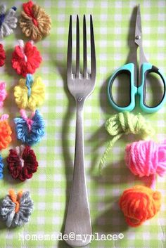 ☆ Tiny Yarn Butterflies ☆ Use yarn scraps to create cute little butterfly accents. Simple and fun to make!