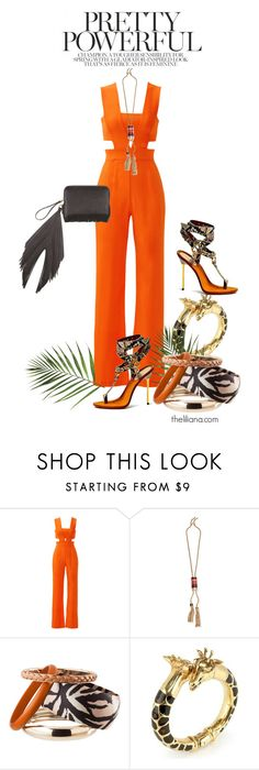"""""""Untitled #1017"""" by theliliana ❤ liked on Polyvore featuring Karina Grimaldi, Lanvin, H&M, Roberto Cavalli and The Volon"""