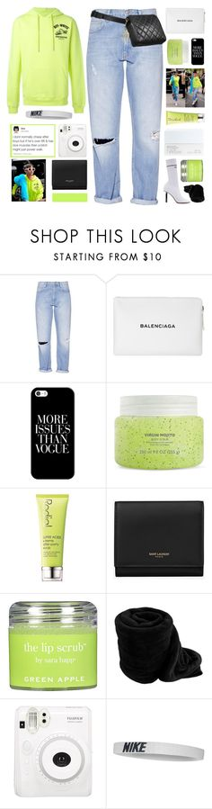 """WHAT YOU SHOULD DO GOING INTO 2018..."" by samiikins ❤ liked on Polyvore featuring French Connection, Balenciaga, Casetify, NARS Cosmetics, Chanel, Rodial, Yves Saint Laurent, Sara Happ, NIKE and 2k18"