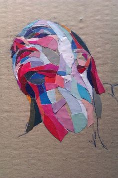 "Saatchi Online Artist: Dimosthenis Prodromou; Paper, Assemblage / Collage ""Niki"" #collage #paper"