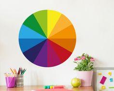 Das #Farbkreis #Wandtatto soll den #Kindern helfen die Farbbeziehungen zu verstehen, damit sie schöne Bilder malen können.