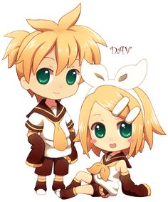 Chibi Len And Rin By DAV 19 On DeviantART