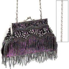 Purple Beaded Bag @ The Pyramid Collection