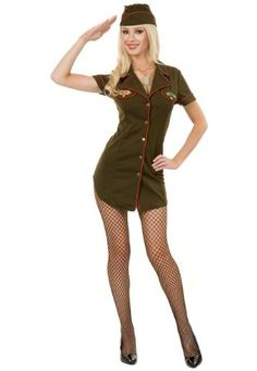 Army Babe Adult Costume Size X-Large Amazon.com Clothing  sc 1 st  Pinterest : army pin up costume  - Germanpascual.Com