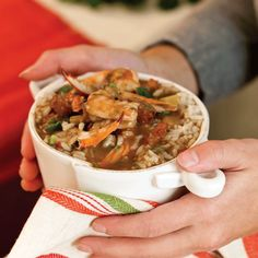 Slow Cooker Sausage and Seafood Gumbo from Taste of the South - looks amazing!