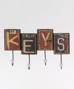Fathers Day?? Take a look at this 'Keys' License Plate Wall Hook by Lynn Roberts International on #zulily today!