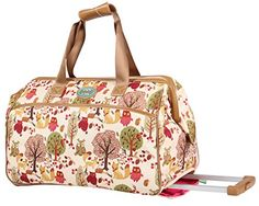 Lily Bloom Wheeled Duffel Bag 14in Forest * ON SALE Check it Out