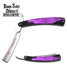 Swords of Might - DARK SIDE BLADES DS-016BP PURPLE REAPER RAZOR BLADE KNIFE, $7.99 (http://www.swordsofmight.com/dark-side-blades-ds-016bp-purple-reaper-razor-blade-knife/)