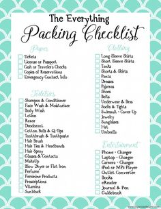 Vacation packing checklist travel list printables ultimate printable disney template excel cruise family for Travel Packing Checklist, Printable Packing List, Vacation Checklist, Packing List For Vacation, Packing Tips, Travel List, Cruise Vacation, Travel Rewards, Camping Checklist