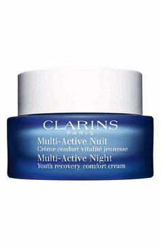 Clarins Multi Active Night Youth Recovery Comfort Cream for Normal to Combination Skin by Clarins. $52.20. New in Box. Clarins Multi Active Night Youth Recovery Comfort Cream for Normal to Combination Skin. Night Cream. **No U.S. Sale Tax** 1.7 oz / 50 ml. Clarins Multi Active Night Youth Recovery Comfort Cream for Normal to Combination Skin It fights signs of aging by encouraging skin renewals and reducing wrinkles. It is ideal for those 30 onwards who wants a more youthful appe...
