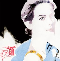 'Lady Mary' of Downton Abbey. Illustration by David Downton.