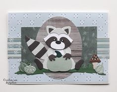 Marianne Design Collectables - Eline's Wasbeer, Marianne Design Craftables - Punch die Autumn, Marianne Design - Pretty Papers Bloc Winter Days by Marleen Marianne Design Cards, Racoon, Cat Cards, Album, Punch Art, Winter Day, Love Cards, Paper Piecing, Scrapbooks