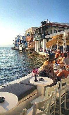 Little Venice, Mykonos Island (Cyclades), Aegean Sea, Greece