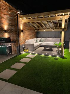 It's a new way of life but we've been so busy Backyard Seating, Backyard Patio Designs, Small Backyard Landscaping, Modern Backyard, Outdoor Pergola, Backyard Ideas, Small Backyard Design, Patio Garden Ideas Uk, Small Back Garden Ideas