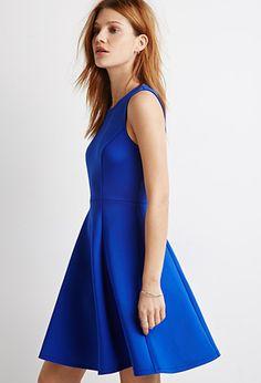 Scuba Knit A-Line Dress | Forever 21 - 2000112288