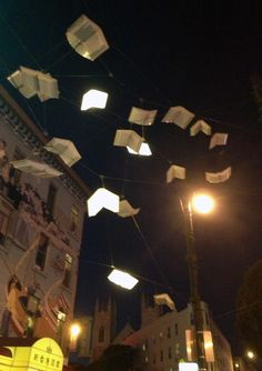 San Francisco, art on Columbus and Broadway avenues, the 'Language of the Birds' Installation (flying books)