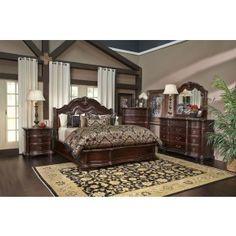 Handly Manor Pecan 7 Pc King Panel Bedroom | Pinterest | Bedrooms ...