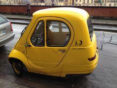 Tiny yellow car