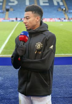 Jesse Lingard of Manchester United is interviewed after the Premier League match between Leicester City and Manchester United at The King Power Stadium on February 2019 in Leicester, United. Get premium, high resolution news photos at Getty Images Lingard Manchester United, Jesse Lingard, Marcus Rashford, Soccer Boys, Premier League Matches, Man United, Jelsa, Lionel Messi, Favorite Person