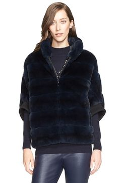 St. John Collection Genuine Sheared Rabbit Fur Jacket | Nordstrom