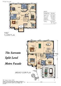 sorrento mk5 split level metrofacade 35 square version home design tullipan homes. beautiful ideas. Home Design Ideas