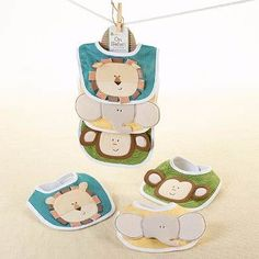 3 Baberos para bebé Littlestars - Safari - $ 369.00 Envío gratis en DF en MercadoLibre