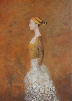 "Saatchi Art Artist Eva Hoffmann; Painting, ""Ildiko (SOLD)"" #art"