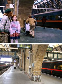 Harry Potter Location:  King's Cross Station Platform 4 & 5 (Platform 9¾) #harrypotter #hp #filmlocations