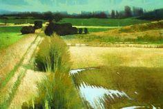 Green Fields Artwork 36x24