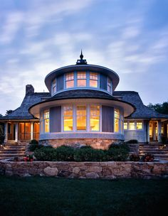 """Amazing Turret on this Cape Cod home.   """"Pepperwood"""", by Polhemus Savery DaSilva Architects"""