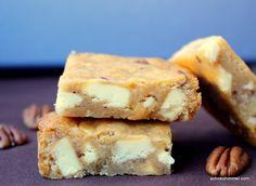 Honig-Blondies mit Pekannüssen nach Martha Stewart - Schokohimmel #KulinarischUmdieWelt
