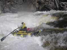 Roger  in a sporty flow at Dagger Falls Spring is coming!  Middle Fork of the Salmon River, ID.