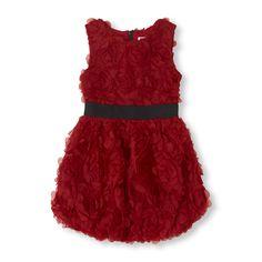 rosette bubble dress for girls-need it now! #bigbabybasketsweeps