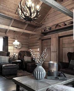 65 Cozy Rustic Bedroom Design Ideas - Di Home Design Rustic Bedroom Benches, Rustic Grey Bedroom, Rustic Bedroom Design, Rustic Bedroom Furniture, Rustic Home Design, Bedroom Designs, Log Cabin Living, Cottage Living Rooms, Log Cabin Homes