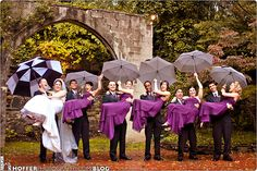 Cute picture of the wedding party embracing the rain! Also includes 6 Tips for Preparing for a Rainy Day Wedding « Budget Savvy Wedding Planner Exposed Blog