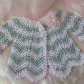 Crochet Baby Sweater - via @Craftsy