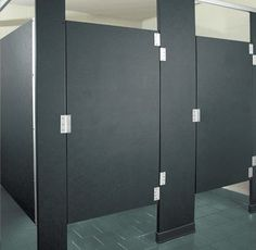 solid plastic commercial toilet stalls