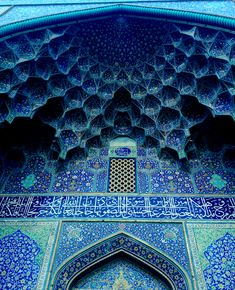 The blue tiled arch of a mosque in Isfahan, Iran ~ Photo and caption by Tandis Khodadadian @Smithsonian Magazine  #culture #heritage #myt